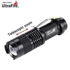 Ultrafire 3500 LM  Q5 14500 AA 3mode ZOOM LED Flashlight MINI Torch Black GE