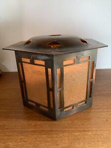 c1900 Arts & Crafts Copper Lantern Porch Hall Lantern - Fantastic