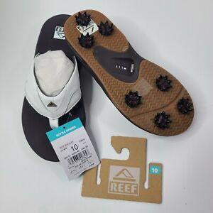 Reef Men Fanning Spackler Golf Sandals SOLD OUT Limited Edition size 10