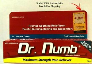Dr Numb Topical Anesthetic Cream Tattoo Laser Pain Reliever 30g