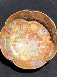 Stunning Antique Japanese Koshida 越田 Satsuma Thousand Flower Lobed Bowl