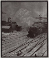 ALFRED STIEGLITZ, In the New York Central Yards Vintage 1908 Full Plate Halftone