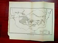 1915 Map of Murray River Valley Melbourne Sydney Australia