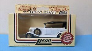 LLEDO 1/64 Diecast ROLLS ROYCE SILVER GHOST 1925 TOURER White Rare New DG25003