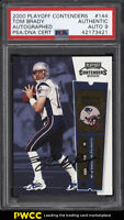 2000 Playoff Contenders Tom Brady ROOKIE RC PSA/DNA 9 AUTO #144 PSA AUTH (PWCC)