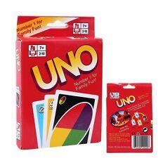 Uno Juego de Cartas Familia Niños estándar amigos 108 Tarjetas de diversión de juego Reino Unido
