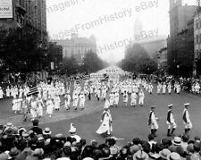 8x10 Print KKK Ku Klux Klan Parade Washington DC 1926 #KKK97