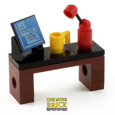 LEGO Desk for Office - with Computer, Mug & Lamp. Work Station Table