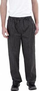 Black & White Pin Stripe Chef Pants
