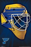 ST LOUIS BLUES - MASK LOGO POSTER - 22x34 NHL HOCKEY 15601
