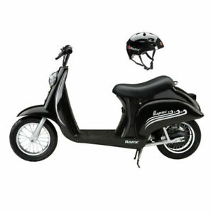 Razor Pocket Mod 250 Watts Vapor Electric Scooter with Helmet - Black