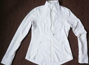 LULULEMON DEFINE WHITE LUON JACKET SZ 8