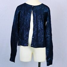 SALE!! BONPOINT GIRLS SIZE 12 BLUE GLITTER MIDNIGHT SPARKLE CARDIGAN NWT $240.00