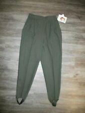 KATHIE LEE Womens 8 Average Olive Green Pleated Stirrup Pants NWT