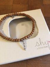 Shy by Sydney Evan Beaded Bracelet Peace Charm with Diamond Bezel