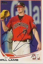 Will Lamb 2013 Topps Pro Debut Signed Card