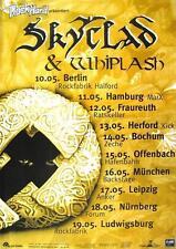 "SKYCLAD / WHIPLASH TOUR POSTER / KONZERTPLAKAT ""IRRATIONAL ANTHEMS TOUR"""