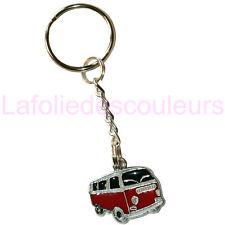Petit porte clés camping car rouge - Little red camper van keyring