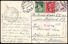 #570 ON FIRST LZ127 FLIGHT ON POST CARD USA TO GERMANY BT5812