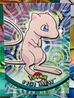 Pokemon: MEW #151 - [Non-Holo] - [Topps Series 1 (1999)] Blue Logo 1st * MINT *