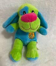 Dan Dee Puppy Dog Green Blue Plush Stuffed Heart Peace Sign 2010
