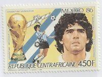 Central African Republic #816 MNH CV$4.50 Maradona/FIFA Mexico 1986