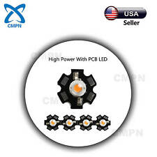 5Pcs 5W High Power SMD LED Chip Plant Grow Light With PCB Full Spectrum380-840nm