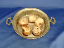 Escargot cooking pan handle copper bottom 5 round slots eggs oven Vintage