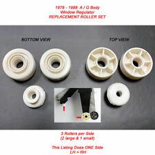 78-88 A/G Front Door Window Regulator Replacement Guide Roller Set LH or RH 3pcs
