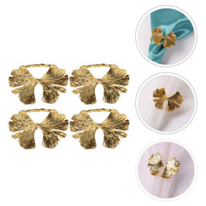 4pcs Napkin Rings Alloy Creative Party Buttons Rings Decorations