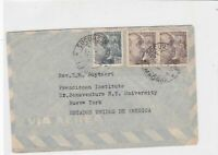 spain  1953 airmail stamps cover ref 19345