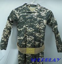 Adorable Toddler Boy or Girl Lil' Army Costume Jumpsuit & Army Hat Sz 2T-4T