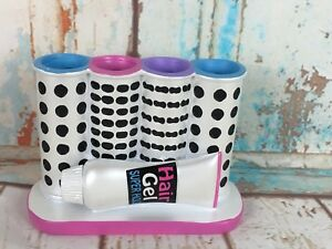 Beauty Salon Inspired Bathroom Hair Curlers Shape Toothbrush Holder New