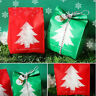 5PCS/10PCS Xmas Bags Christmas Candy Box Paper Carrier Gift Packaging Supplies~~