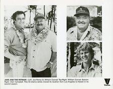 WILLIAM CONRAD JOE PENNY ALAN CAMPBELL JAKE AND THE FATMAN 1988 CBS TV PHOTO