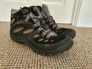 Merrell Women's Chameleon Waterproof High Rise Hiking Boots Black UK 6 - EU 39