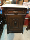RENAISSANCE+REVIVAL+HALF+COMMODE+WITH+MARBLE+TOP+AND+GRAPE+CARVING%2C+CIRCA+1870