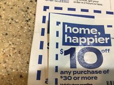 Bed Bath & Beyond Coupons - 2 coupons - $10 and $25 off