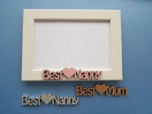 Mothers Day Birthday Photo Frame gift personalised Best Mum Nanny Nanna Mummy