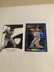 2015 Immaculate Collection Jose Abreu #/25 Patch #6 Bowman Chrome RC BLUE #/250