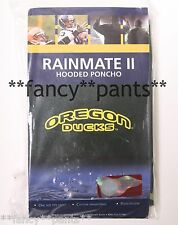 LICENSED *Oregon Ducks* Rainmate II hooded pullover rain poncho Green/Yellow NWT