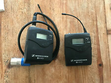 Sennheiser EW100 G2 Wireless radio Transmitter and Receiver. + Hot Shoe fitting
