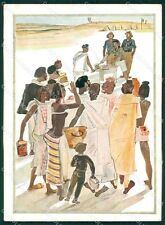 Militari Coloniali Africa Orientale Risque Nude Ethnic FG cartolina XF3078