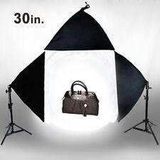 "Photo Studio 30"" Photography Light Tent Backdrop 3x Softboxes Kit Cube Lighting"