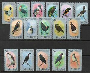 ST LUCIA 1976 BIRDS SET COMPLETE *** SUPERB M N H ***