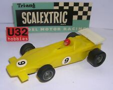 SCALEXTRIC C27 LOTUS TURBINE #9 F1 AMARILLO    EXCELLENT CONDITION  UNBOXED