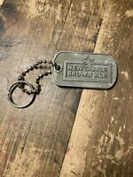 Vintage Newcastle Brown Ale Cast Aluminum Key Ring with Star
