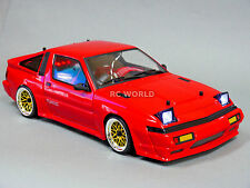 Custom RC 1/10 Drift TOYOTA SUPRA TURBO STARION AWD BELT CAR RTR w/ LED