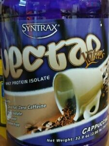 Syntrax Nectar Lattes 2lb Protein Powder Bottle - Decaf Cappuccino. BB 05/15/23