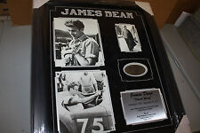 """JAMES DEAN """" REBEL WITHOUT A CAUSE"""" TRIBUTE COLLAGE Framed 20X24 W/SUEDE!"""